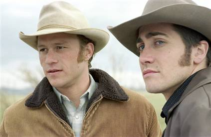 Heath Ledger as Ennis and Jake Gyllenhaal as Jack