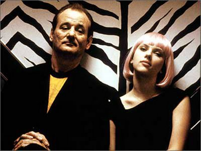 Bill Murray as Bob and Scarlett Johansson as Charlotte