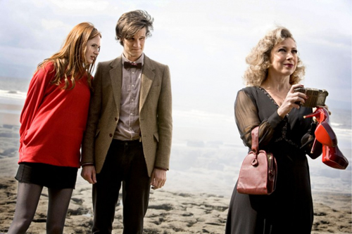 Amy, the Doctor, and River in The Time of the Angels