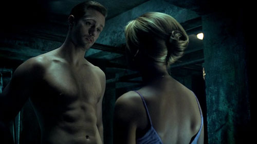 Sookie confronts naked Eric about Bill's disappearance