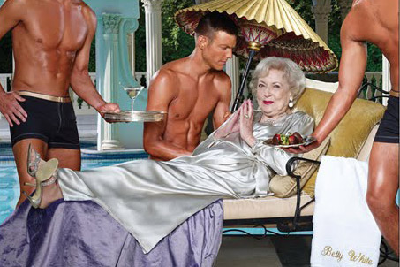Betty White in her 2011 Calendar