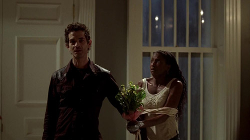 Franklin and Tara arrive at Russel's house.