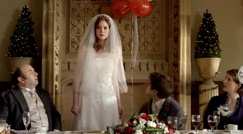 Amy, Rory, and her parents in Doctor Who Big Bang
