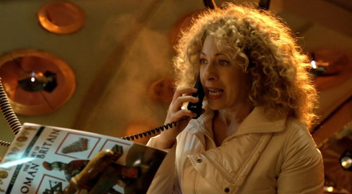 River Song in Doctor Who Pandorica Opens