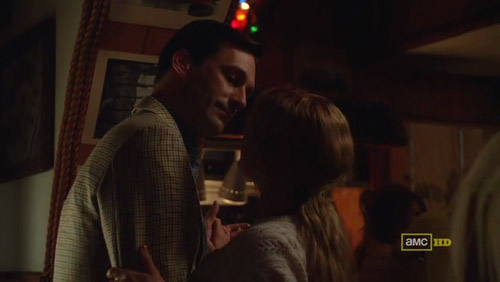 Mad Men 4x03 The Good News Don and Stephanie