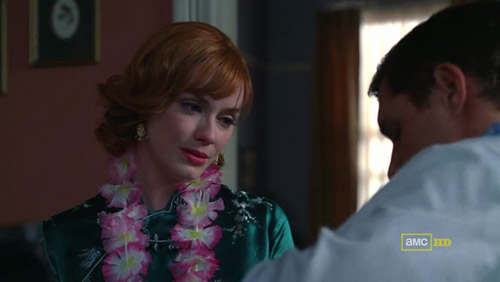 Mad Men 4x03 The Good News Joan and her husband