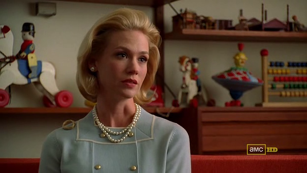 Mad Men 4x05 Betty with Sally's therapist