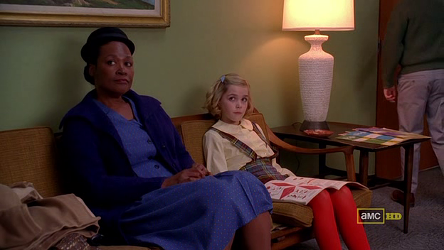 Mad Men 4x05 Carla takes Sally to therapy
