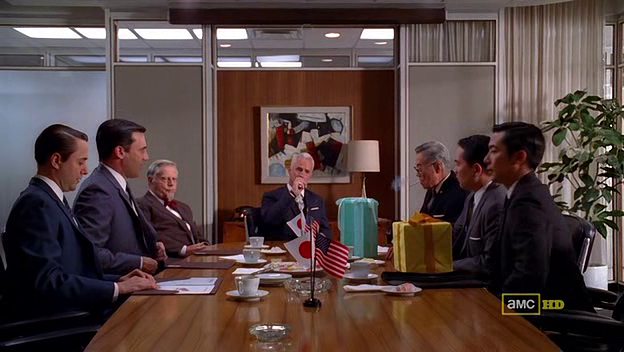 Mad Men 4x05 Sterling Cooper Drapper and Pryce and the Japanese business men from Honda