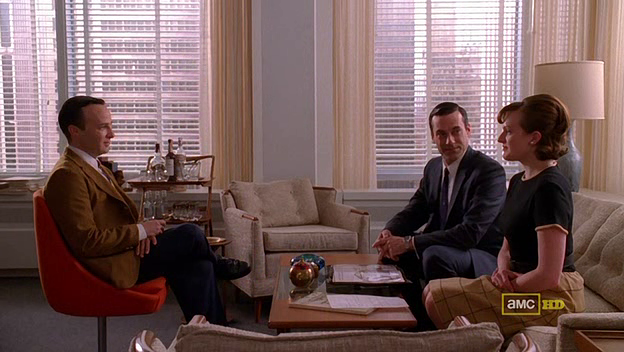 Mad Men 4x06 Danny, Don, and Peggy