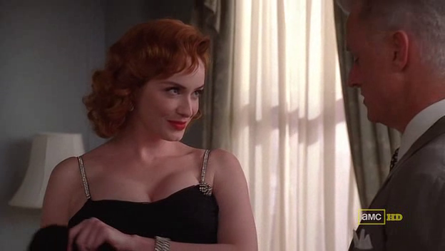 Mad Men 4x06 Joan and Roger in the 1950s