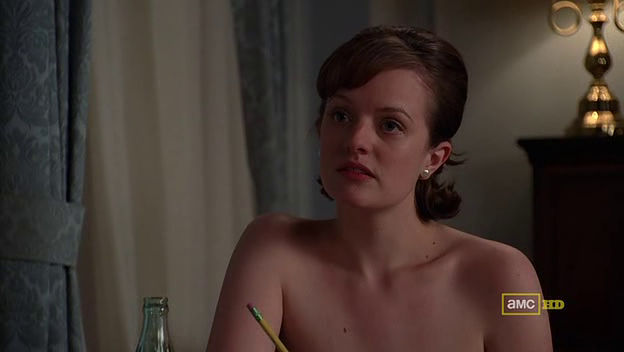 Mad Men 4x06 naked Peggy