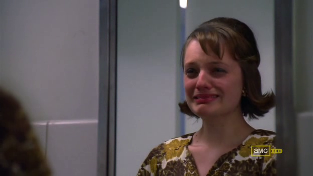 Mad Men 4x07 Peggy crying