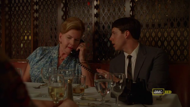 Mad Men 4x07 Peggy's mom and Mark