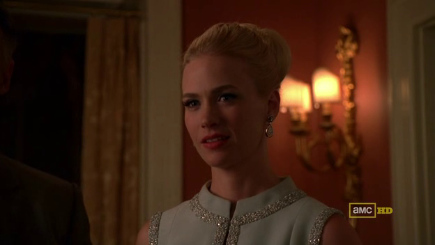Mad Men 4x08 Betty's icy stare to Don and Bethany