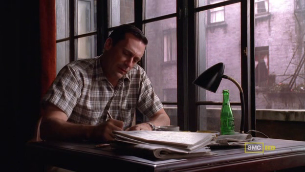 Mad Men 4x08 Don writes a journal