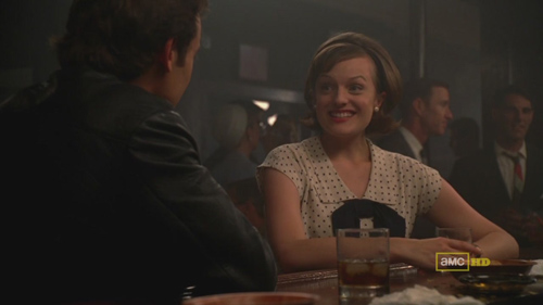 Mad Men 4x09 Abe and Peggy go on a date in a bar