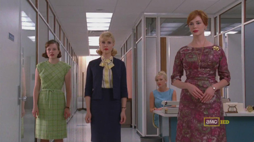 Mad Men 4x09 Peggy, Faye, and Joan watch Sally escape