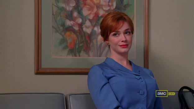 Mad Men 4x10 Joan in the doctor's waiting room