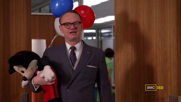Mad Men 4x10 Lane and Mickey Mouse