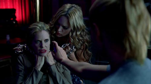 True Blood 3x11 Pam is chained up by Yvette and Sookie