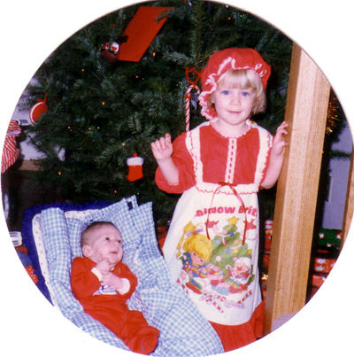 Christmas 1985, Jonathan's first and Erica's third.