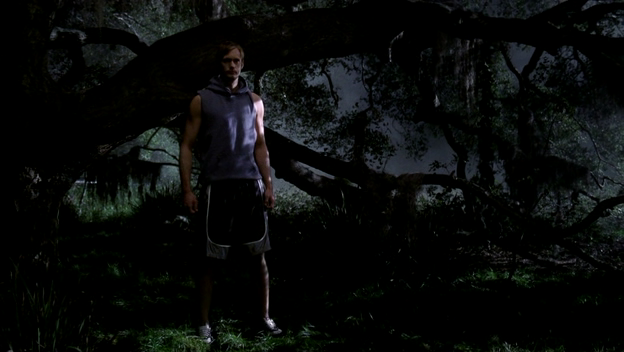 Eric meets Sookie in the woods.