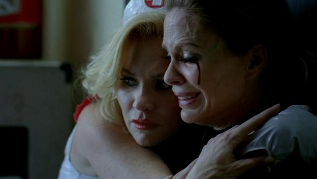Ginger hugs Pam