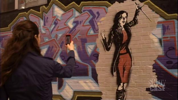 Morrigan graffiti