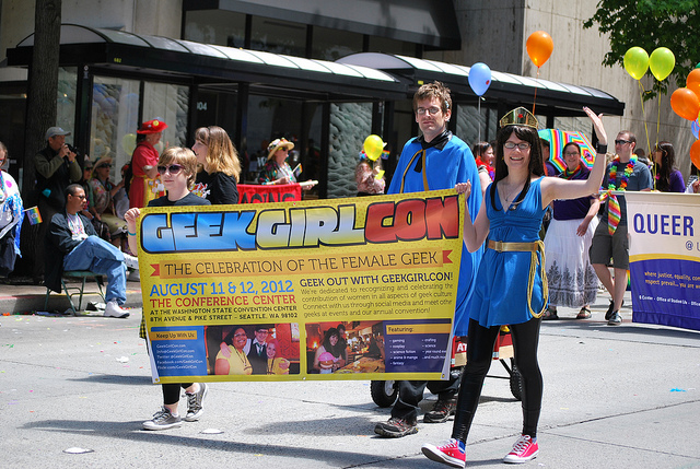 GeekGirlCon at Pride. Photo by Jonathan Konkol