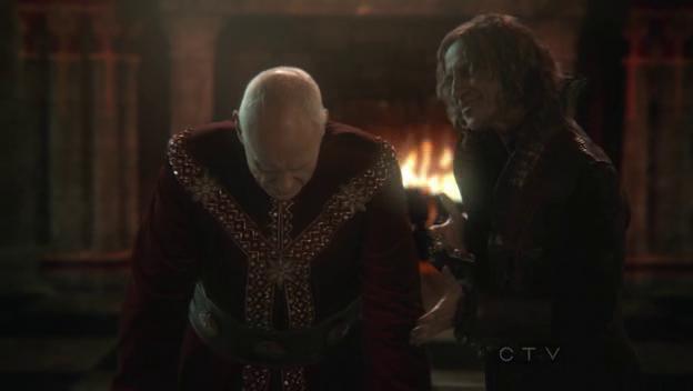 King George cries