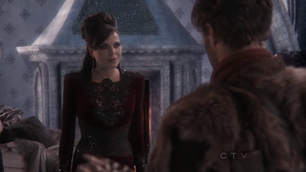 Making a deal with the evil queen.