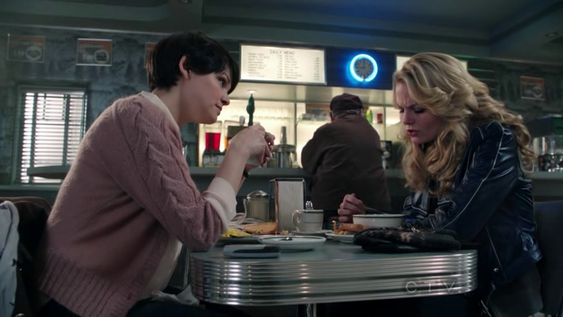The diner is the place for obvious secrets.