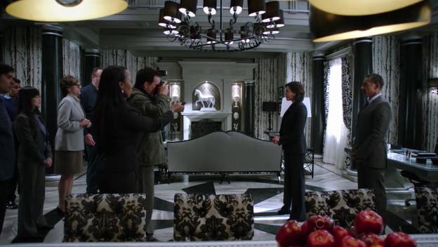 Regina's office is super amazing set decorations here.