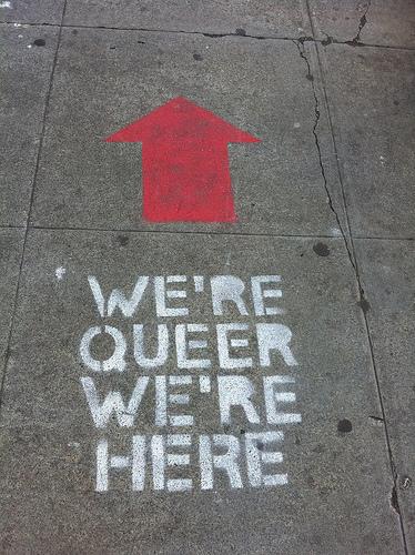 We're Queer, We're Here by Steve Rhodes