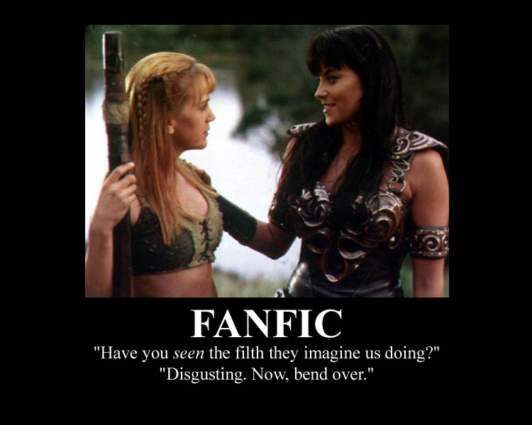 Xena and Gabrielle and fanfic