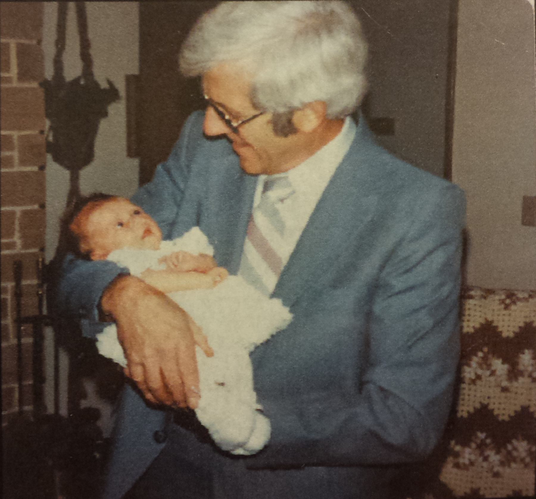 Grandpa holding me when I was born.
