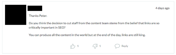 Speculation on Moz's layoffs around SEO and link building
