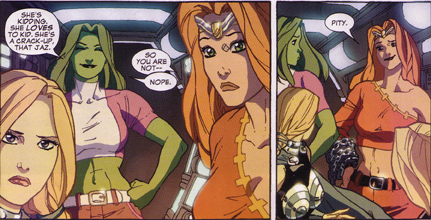 She-Hulk #34: Thundra is disappointed that She-Hulk doesn't like girls
