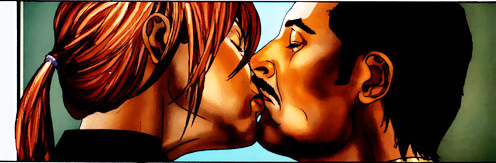 Pepper and Tony Kiss