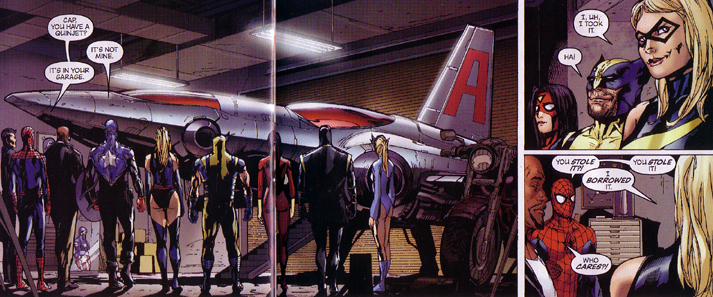 Ms. Marvel steals the quinjet