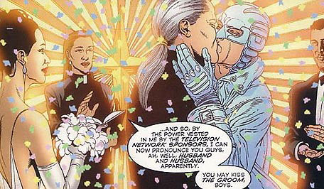 Apollo and Midnighter get married.
