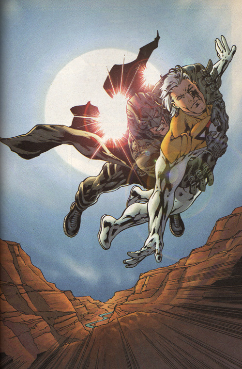 Midnighter and Apollo fly