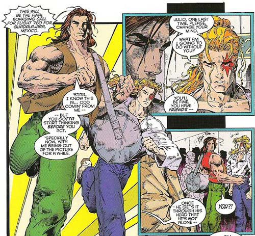 Rictor and Shatterstar say goodbye to each and hello to subtext.