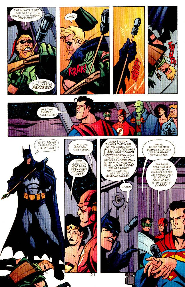 Batman is a dick to Oliver and everyone else.