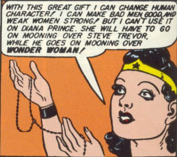 Both Diana and Wonder Woman love Steve. How can both the secret identity and the superhero love the same person?