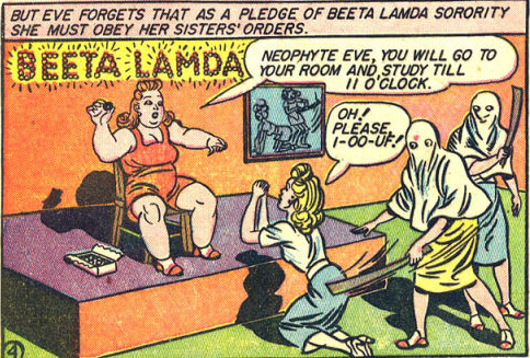 Eve willingly submits to Etta and her Beeta Lamda sisters