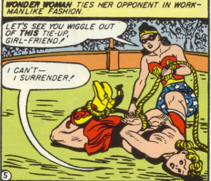 Mala cannot win. But Diana does a great hog-tie.