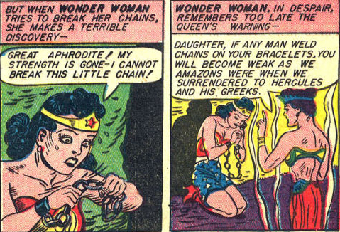 Wonder Woman Cannot Break The Chains 6 7 Green Comics