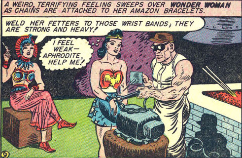 Wonder Woman submits to Baroness Paula